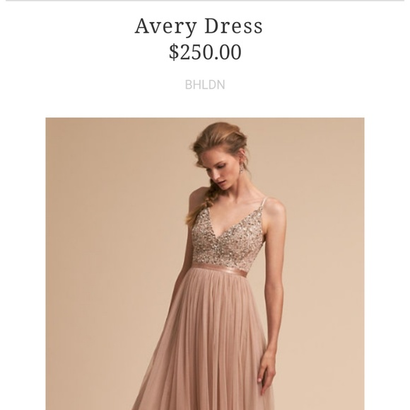 b652c0a62f4b BHLDN Dresses & Skirts - BHLDN, Avery bridesmaid dress, blush size 2